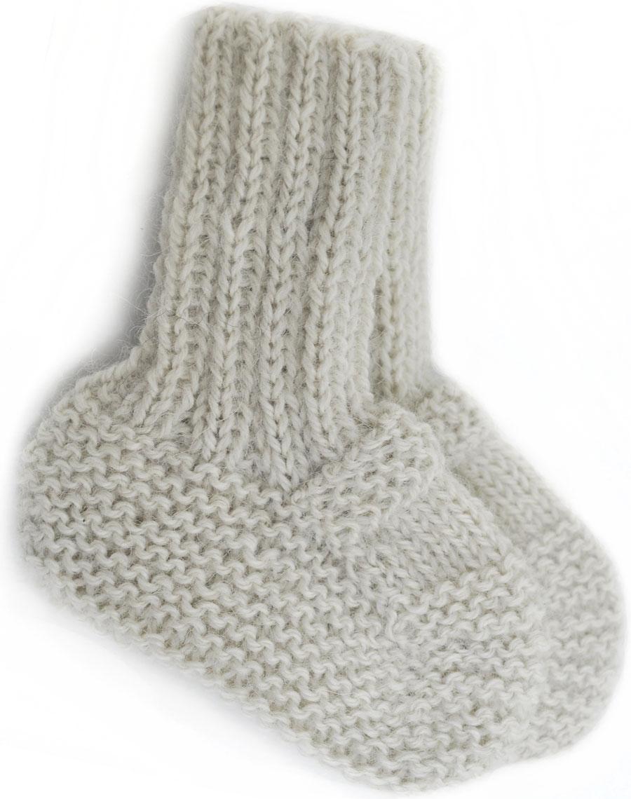 Calcetines para Bebé Tejidos a Mano en Lana de Alpaca Pura