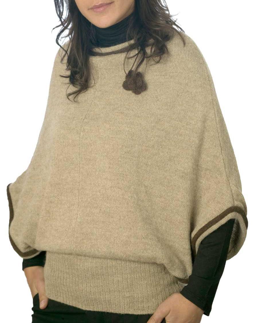 Poncho Vintage 100% Alpaca - Hecho en Bolivia 92b334f7b4a